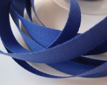 """Twill Tape Cotton 5/8"""" width Royal Blue  10 Yards"""