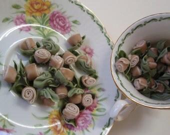 Roses Velvet Beige 8 pcs