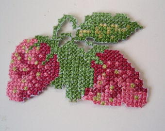Iron-on Strawberries Thermo-Adhesive Embroidered Applique