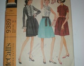 1960s McCall's Misses' Dress in Three versions Sewing Pattern