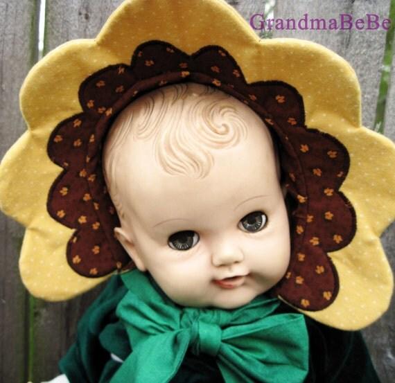 Baby Bonnet, Flower Bonnet, Sunflower Hat, Sunflower, Baby Hat,Baby Photography Prop