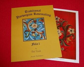 Folio of 8 full-colored Rosemaling Designs (Folio 1)
