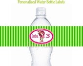 Strawberry Shortcake Water bottle labels Birthday Girl Party Printable Partytales