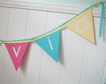 Sweet Birdie Birthday Banner, Personalized