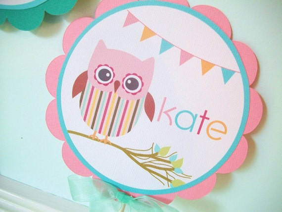 Cake Toppers Birthday Etsy : Owl Birthday Party Cake Topper by oliviagpaperie on Etsy