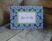 Stationery Set, Modern Notecards, Monogram Stationery, Folded Cards, Damask Cards, Vintage, Damask Stationary CHOOSE COLORS