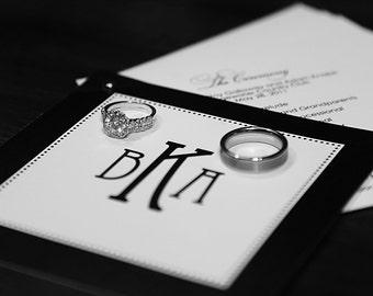 Monogram Wedding Programs -:- Booklet Programs -- Elegant, Classic, Contemporary Programs-- Custom, Unique Programs