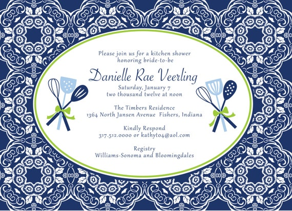 Reserved For Lisa Romano, Bridal Shower Invitations, Housewares Party,  Housewarming Party, Kitchen Part 29