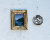 "Miniature Painting ""Landscape at Dusk"""
