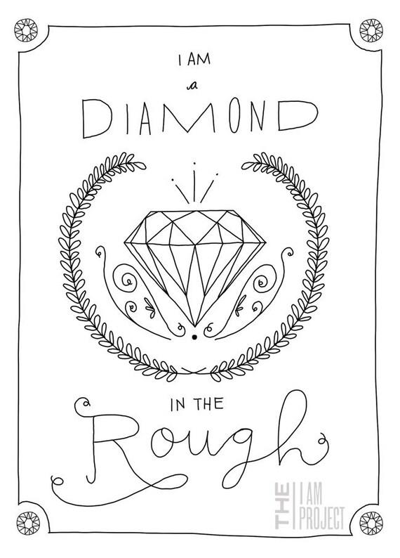 "Diamond in the Rough - 8"" x 10"""