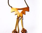 Third Eye. Tribal Copper and Leather Necklace
