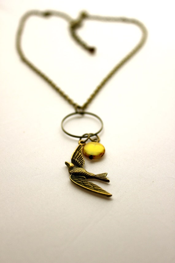 IN FLIGHT. Swallow Charm Necklace