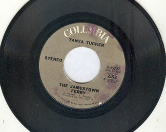 Tanya Tucker 45 The Jamestown Ferry vintage vinyl country from 1972