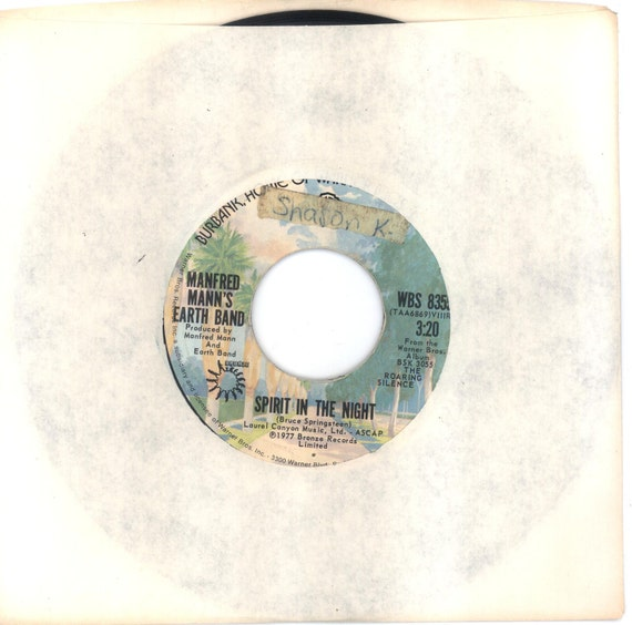 Manfred Mann's Earth Band 45rpm Spirit in the Night