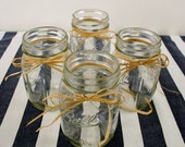 12, 32 oz. Ball Mason Jars with Raffia