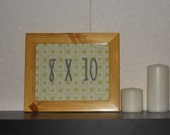 Picture Frame 8X10 pine clear coat finish