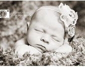 Vintage Inspired Lace and Feather Headband-Photo Prop-Newborn-Infant-Toddler-Teen-Adult