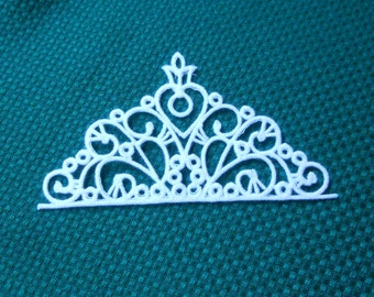Lace Applique for Crafts or Crazy Quilt - Tiny Tiara