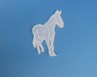 Any Color Lace Applique for Crafts or Crazy Quilt - Horse