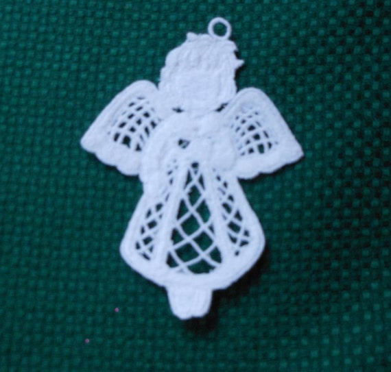 Lace Applique for Crafts or Crazy Quilt - Cute Little Girl Angel - any color