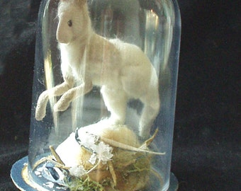 Winter dancing hare RESERVED not for sale