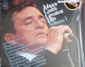 Johnny Cash vinyl LP ...Greatest Hits Volume 1 VG-Plus-Plus 1967 Record