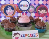 CUSTOMIZED Dora Cupcake Toppers, PDF
