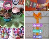 Set of 4, Dora the Explorer Party Printables