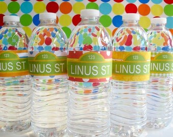CUSTOMIZED Sesame Street Water Bottle Labels