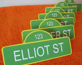 Sesame Street Name Tags, customized