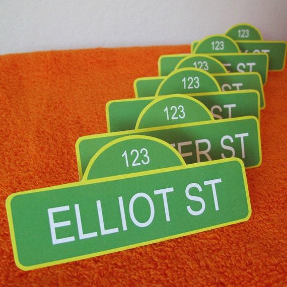 Sesame Street Name Tags, customized
