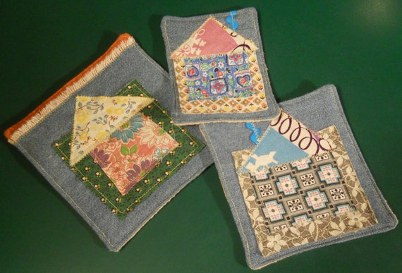 Coasters or little hot pads or pot holders for a child's toy vintage kitchen or imaginative play