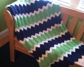 Twin Ripple Crochet Blanket/Afghan Made to Order