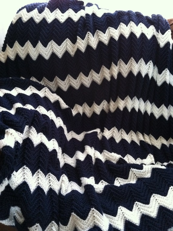 Crochet ripple King size Bedspread afghan made to order
