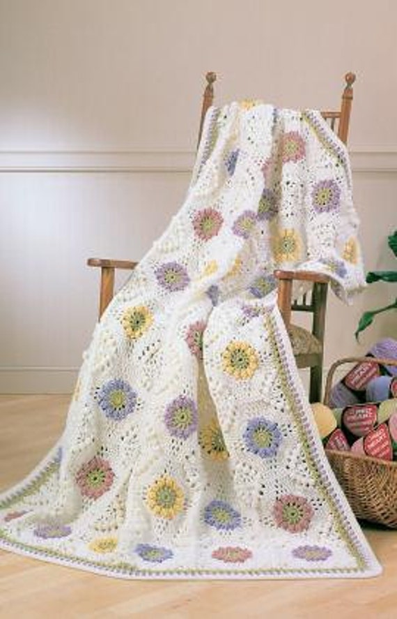 Crochet Floral Bouquet Afghan/Blanket  Made to Order