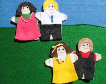 Felt Finger Puppet Family