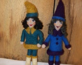 Needle Felted Little Gnome Girl Doll Handcrafted Woodland Forest Girl Doll