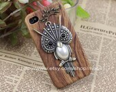 Brass Cute Owl with A Branch and Hard Case Cover Cover for Apple iPhone 4 4g 4gs 4s