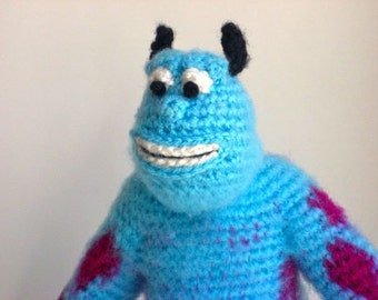 Crochet Amigurumi Baby Monsters With Craftyiscool : Amigurumi Sully the Monster Handmade Doll from Monsters Inc