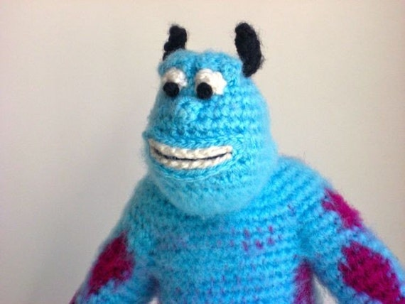 Amigurumi Monsters Inc : Amigurumi Sully the Monster Handmade Doll from Monsters Inc