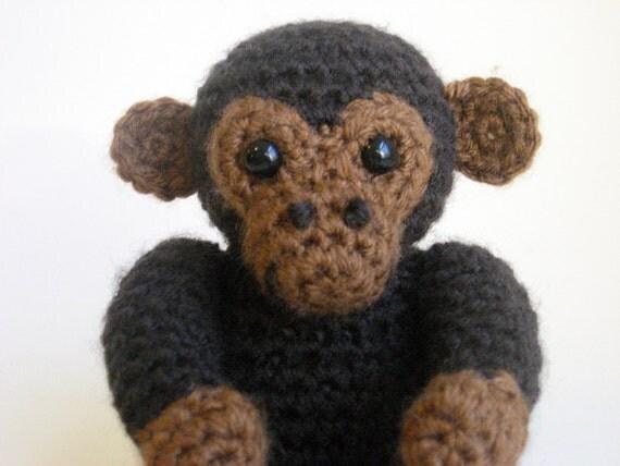 Amigurumi Big Monkey : Amigurumi Monkey Plush Handmade One of a Kind Doll