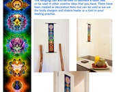 7 Chakras Mandala Wall Hanging - Banner Tapestry Mandala - Healing, Meditation, Yoga, Spiritual, Energy, Chakras, Sacred Space Inspiration