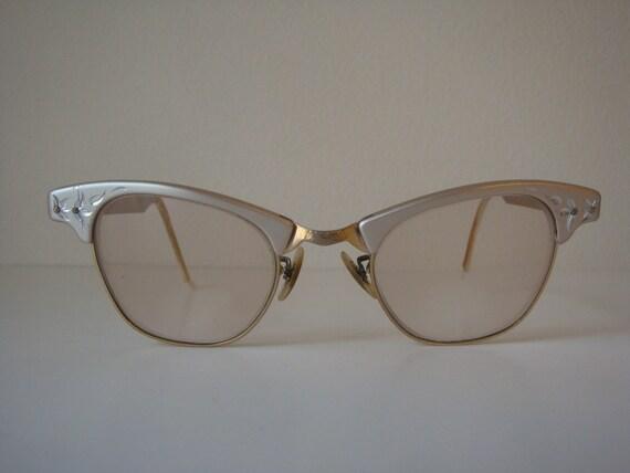 Vintage Mid-Century Cat Eyes Glasses by Artcraft