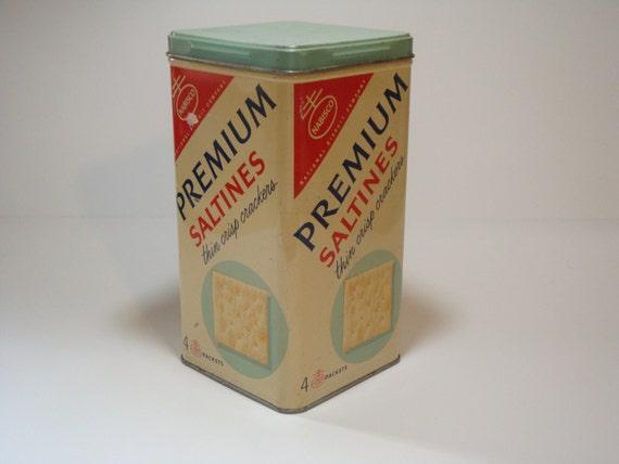 Vintage Nabisco Premium Saltine Crackers Tin