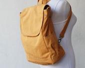 Fortuner Backpack Convertible in Mustard (Water Resistant) Laptop / Shoulder Bag/ Diaper Bag/ Satchel / Rucksack / Messenger Bag / Tote