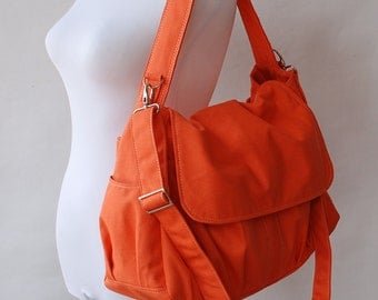 Messenger Bag, Sale SALE - 30% - Orange / Laptop Bag / Diaper Bag/ College Bag/ Women Bag /Gift For Her/ Travel bag/ Crossbody Bag