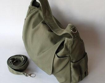 School Bag, Sale SALE SALE - Dark Green, Shoulder Bag, Messenger Bag, Women, Canvas School bag, crossbody bag, Handbag,  40%  Off