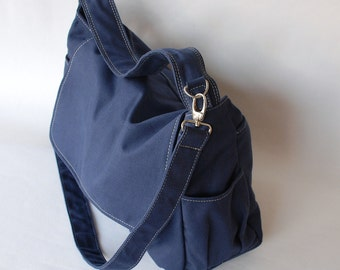 Messenger Bag, On SALE - Pico, Navy Blue/ Women/ Laptop Bag / Shoulder bag/Diaper Bag/ School Bag/  40% OFF