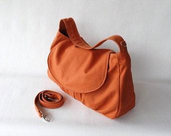 Fortuner - Big SALE - Pumpkin, Messenger Bag, School Bag, Shoulder Bag, Diaper Bag, Women, Canvas School bag, Gift for Her, 40% OFF