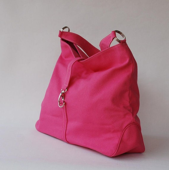Christmas in July SALE - CoCo in Pink (Water Resistant Insulated) Messenger / Shoulder Bag 140z Cotton